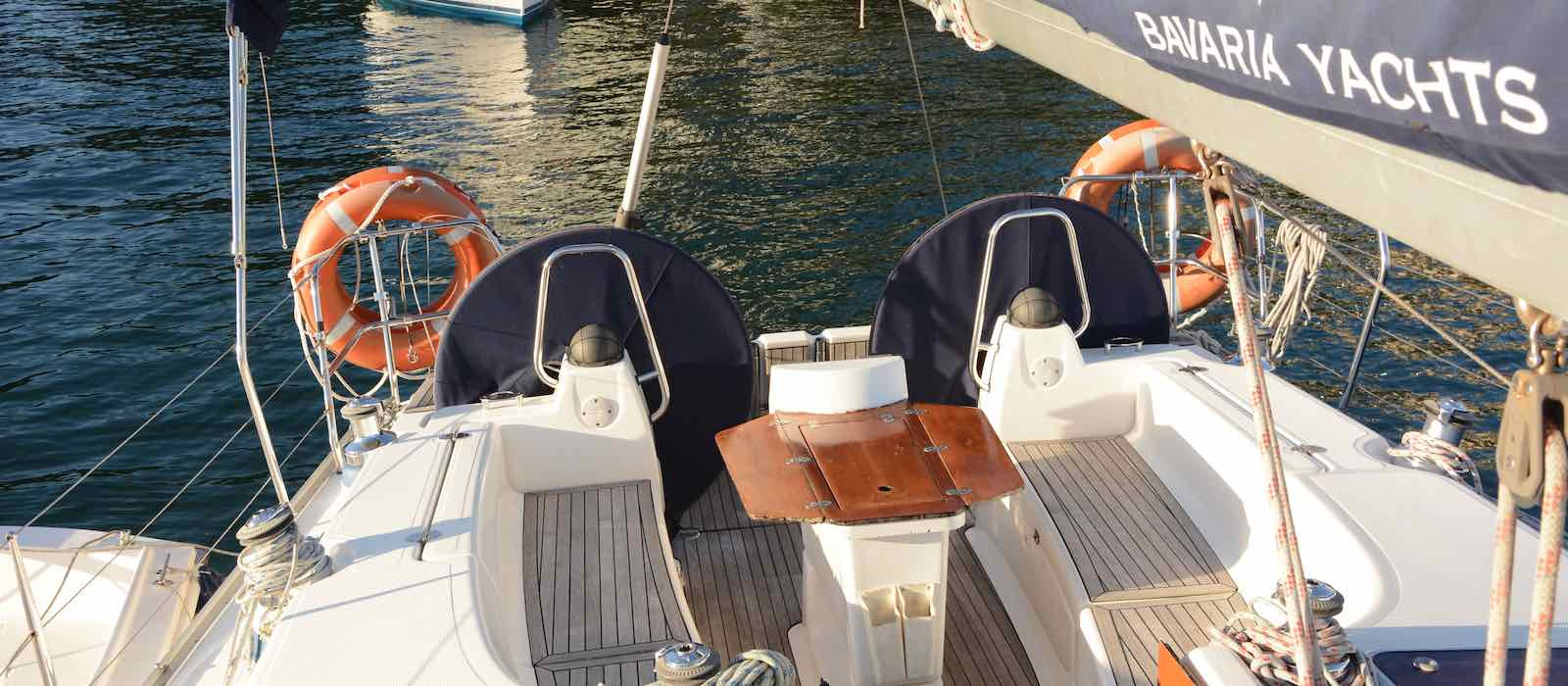 Sailing Sydney skippered yacht charter on Bavaria 40